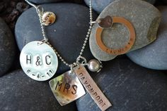 brides charm necklace in sterling silver by thecharmedwife on Etsy, $64.00
