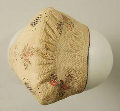 Cap  Date:     18th century Culture:     French Medium:     cotton