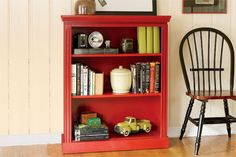 how to build a small bookcase for the playroom.