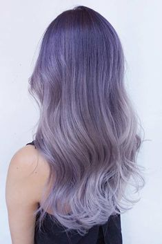 Have you seen a pastel purple hair color in the streets of your city? It's one of the new trends this season. This shade of purple will be perfectly combined with a bright stylish girl's cheeky look.#haircuts#hairstyle#haircolor