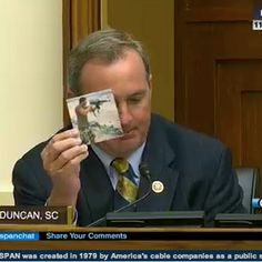 During a hearing on the White House's request for congressional approval for military action against Syria, South Carolina Rep. Jeff Duncan's questioning of John Kerry got heated quickly after Duncan opened by talking about Benghazi and holding up a photo of slain Navy SEAL Tyrone Woods. Duncan suggested that questions about Benghazi be answered before sending more Americans into harm's way.  09-04-2013