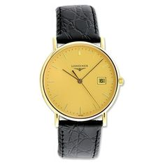 Longines CLassique Gold. Makes a good pop of color and looks sharp
