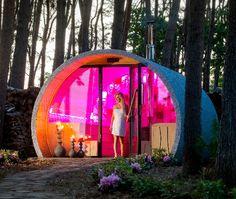 Outdoor Sauna, Outdoor Gear, Indoor Outdoor, Sauna Kits, Spa Design, Tent, Backyard, Wellness, Exterior