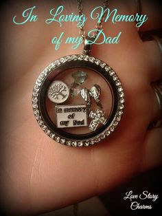 In loving Memory Of My Dad Floating memory locket by LoveStoryCharms, $20.00