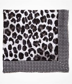 Houndstooth & Leopard print scarf by Express, $19.99