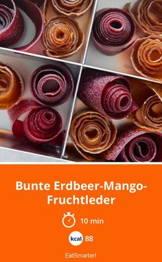 Bunte Erdbeer-Mango-Fruchtleder