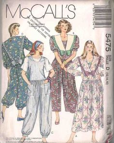 McCalls 5475 Sewing pattern, plus size dressmaking pattern, complete and uncut, dress, jumpsuit, size 12 14 16, 90s 1990s nineties, vintage by Rethreading on Etsy