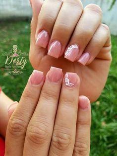 Fall Nail Designs - My Cool Nail Designs Gorgeous Nails, Love Nails, Pink Nails, Diy Nail Designs, Short Nail Designs, Square Acrylic Nails, Manicure E Pedicure, Pedicures, Dipped Nails