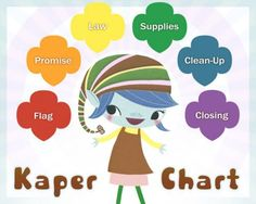 Great idea Kaper Chart for Brownie                                                                                                                                                                                 More