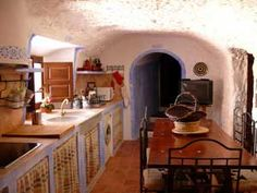 Cave kitchen in Spain....This looks like something to do.....bucket list!
