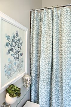 Aqua Shower Curtain for Curtains? Allen + Roth shower curtain from Lowe's