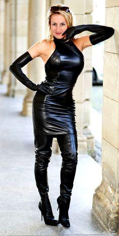 Leather Bodycon Dress, Leather Mini Dress, Black Leather Gloves, Leather Dresses, Leather Skirts, Sexy Outfits, Sexy Dresses, Leder Outfits, Sexy Latex