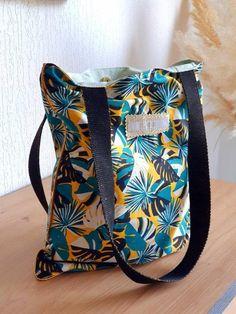 Boutique Etsy, Tote Bag, Motifs, Diaper Bag, Fashion, Pouch, Green Cotton, Large Bags, Suitcase