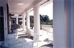 Porch on Fisher's Island by Robert A.M. Stern Architects, LLP