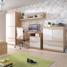 Culori deschise pentru o atmosferă caldă și relaxantă.  #mobexpert #backtoschool #mobiliercopii #interiordesign Office Desk, Corner Desk, Bedroom, School, Interior, Furniture, Design, Home Decor, Neutral