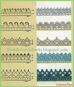Pattern diagram for pretty crochet edging. Neat idea for dish-cloths, tea-towels, coasters and + Crochet Free Edging Patterns You Should KnowCrochet Beautiful Boarderscould Be PutAdd Borders to your blankets and afghans!Crochet Symbols a Crochet Edging Tutorial, Crochet Border Patterns, Crochet Lace Edging, Crochet Diagram, Crochet Chart, Filet Crochet, Crochet Trim, Knitting Patterns, Crochet Edgings