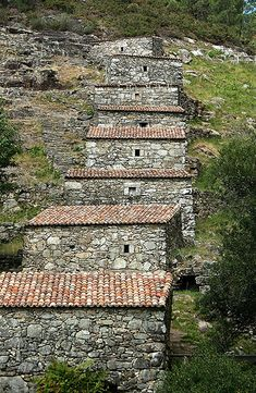 Portugal traditional stone houses