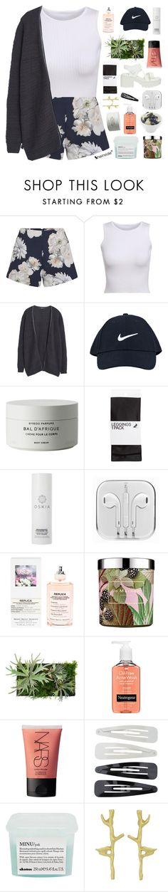 """YOU'RE GRAVITY"" by elainesabine ❤ liked on Polyvore featuring Finders Keepers, MANGO, NIKE, Byredo, H&M, Oskia, Maison Margiela, Jo Malone, Neutrogena and NARS Cosmetics"
