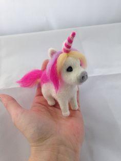Needle Felted Unicorn, wool, felt unicorn, Fantasy, felted animal, Horse,soft…