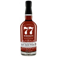 Breuckelen Distilling Company Wheat '77' Whiskey.77 Whiskey is produced right across the bridge from Manhattan in Brooklyn!.| spiritedgifts.com Small Batch Bourbon, Whiskey Bottle, Manhattan, Brooklyn, Bridge, Drinks, Drinking, Beverages, Bro