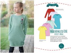 """Ebook Mädchenkleid """"FINE"""" by EvLi's-Needle Diy And Crafts, Ebooks, Sewing, Kids, Shirts, Clothes, Ballerinas, Fashion, Pattern Fabric"""
