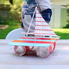 Come see how I made a sailboat from recycled everyday items.  A perfect summer craft for kids.