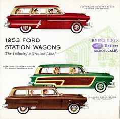 1953 Ford Station Wagons