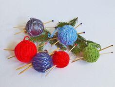 Knitting Ornament - Christmas Decoration - Ball of Yarn Ornament - Stocking Stuffer by PearlsHomespun on Etsy #knitting, #ornament, #knitters, #gift, #stockingstuffer, #knitting, #needles, #giftforknitter, #knittersgift, #knittinggift, #knittingornament