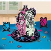 Monster High Table Decorating Kit Includes centerpiece high), small centerpieces high) and confetti pieces wide). Weight (lbs) Length (inches) Width (inches) Height(inches) Birthday Party Supplies Multi-colored One Size Birthday Unisex All Ages Monster High Centerpieces, Monster High Decorations, Party Table Centerpieces, Table Decorations, Small Centerpieces, Cumple Monster High, Monster High Birthday, Monster High Party Supplies, Fun Party Themes