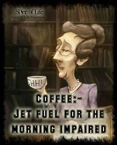 As well as looking exactly like this caricature when I roll out of bed and into…