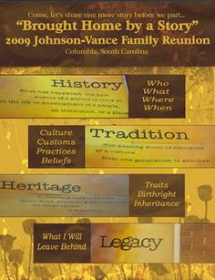 Sharing The Legacy: Reunion Ideas