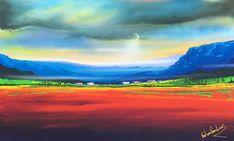 Colour Landscape Cape Town South Africa, New Art, African, Colour, Landscape, Artist, Travel, Painting, Color
