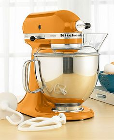 Who wouldn't love to have this Tangerine Kitchenaid Artisan mixer on their counter?