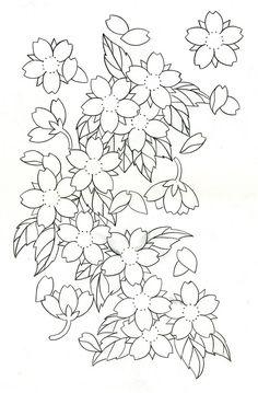 33 Best Cherry Blossom Tattoo Stencil Images Tattoo Stencils