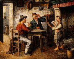 Карл Остерзетцер (1850-1914) - Картёжники