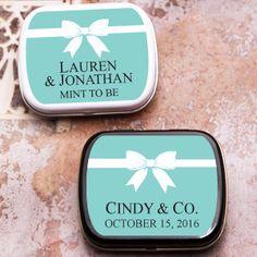 Tiffany Blue Personalized Mint Tins