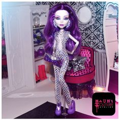 Monster High Spectra's Disco Diva Couture Jumpsuit and purse on Etsy, $15.00