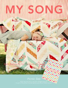 My Song Quilt Pattern PDF via Etsy.