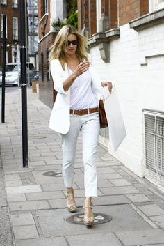 Kate Moss White pants  I want pretty: LOOK- Pantalones Blancos #2!