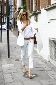 Kate Moss White pants  I want pretty: LOOK- Pantalones Blancos #2!