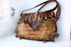 4lapki сумка стимпанк натуральная кожа ручная работа / steampunk genuine leather bag handmade