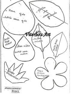 moldes de rosas de eva passo a passo 3 Wafer Paper Flowers, Tissue Flowers, Clay Flowers, Paper Roses, Fabric Flowers, Leaf Template, Flower Template, Templates, Pop Up Cards