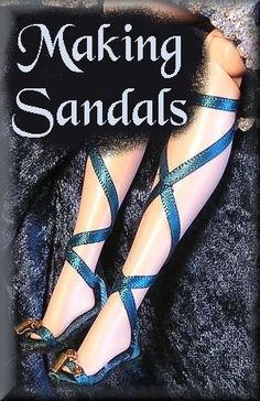 Making Sandals for Dolls// click on the picture to get the pdf download