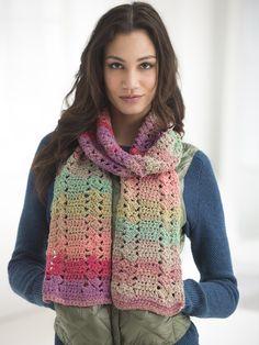 Easy Eyelet Scarf (Crochet)