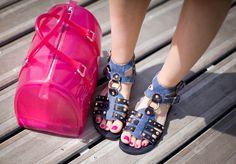 Furla Bag and Dolce & Gabanna sandals