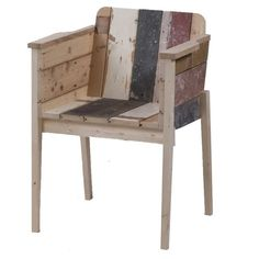 bucket chair in scrapwood Sensational Scrapwood Furniture by Piet Hein Eek