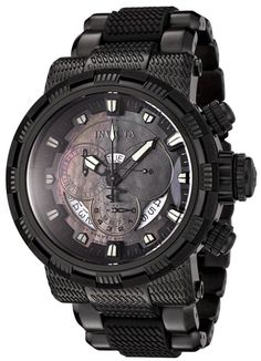 Invicta 6664 Reserve Capsule Swiss Quartz Chronograph All Black Stainless Steel Watch