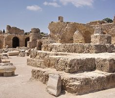 Tunisia: Ruins of ancient Carthage  They were still sacrificing humans to The God Baal when the Romans stopped in but it was a minority by then.