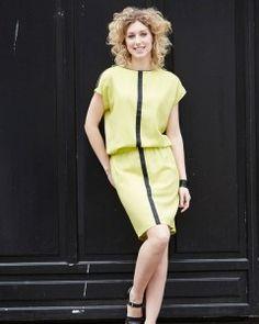 Forlæng overdelen på buksedragten Fernanda og få en kjole i samme mønster! | Mønster fra Homemade Stof2000