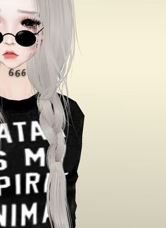 Must be pretty but on her forehead the number is 1 and it is in pitch black Cartoon Crazy, Word Girl, Virtual Girl, Tumblr Outfits, Aesthetic Anime, Imvu, Pink Hair, Girly Things, Illustrations Posters